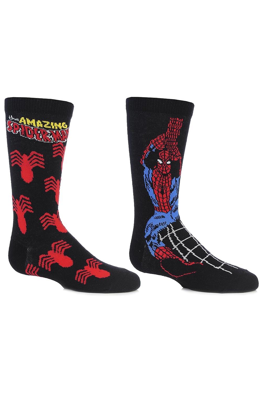 SockShop Kids' 2 Pair Marvel The Amazing Spider-Man Socks