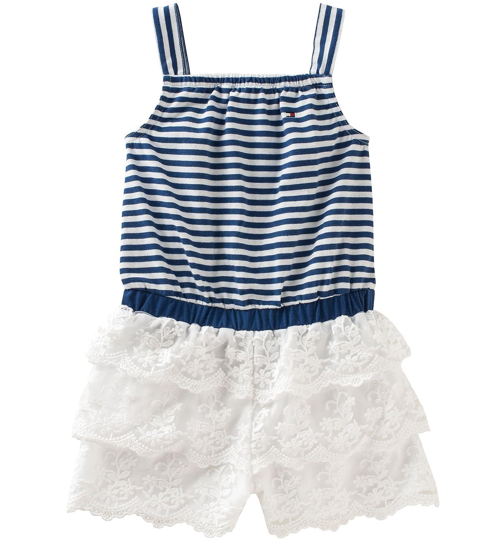 6df5c2eaf71c Amazon.com  Tommy Hilfiger Baby Girls  Romper-Lace  Clothing