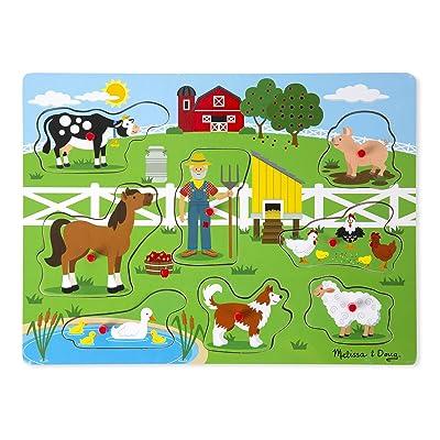 Melissa & Doug 8pc Sound Puzzle - Old McDonald's Farm: Game: Toys & Games