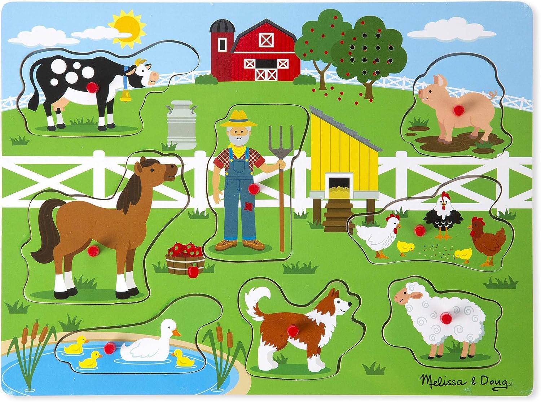 Amazon Com Melissa Doug Old Macdonald S Farm Sound Puzzle Game Toys Games