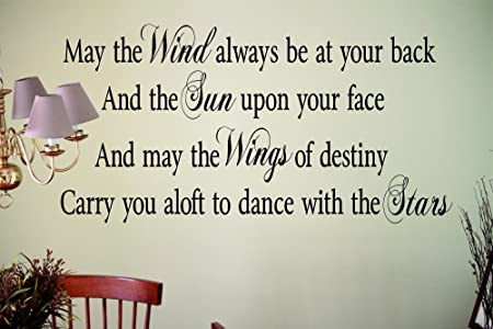 May The Wind Always Be At Your Back Wall Art Quote Sticker Decal