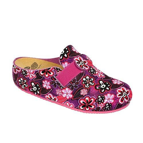 Wörishofer Clog m. Fersenriemen 41610 - Zapatos con hebilla de cuero para mujer, color multicolor, talla 36