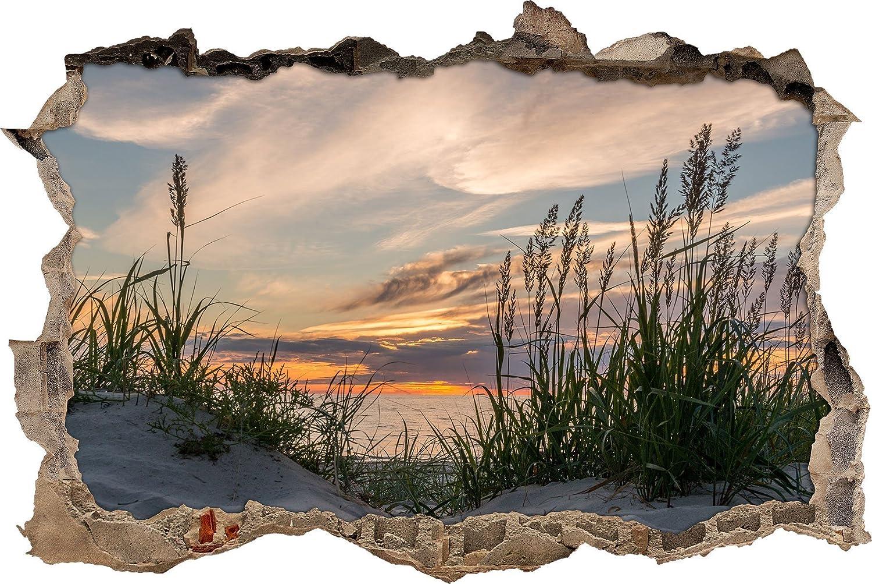 Erstaunlich Wanddurchbruch Das Beste Von Pixxprint 3d_wd_s2407_62x42 Ruhige Graslandschaft Am Meer 3d