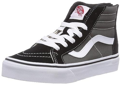 2eb9fd29fcf97b Vans Youth PS Little Kids SK8-Hi Zip Fashion Sneakers Black Charcoal