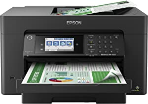 "Epson Workforce Pro WF-7820 Wireless All-in-One Wide-Format Printer with Auto 2-Sided Print up to 13"" x 19"", Copy, Scan and Fax, 50-Page ADF, 250-sheet Paper Capacity, 4.3"" Screen, Works with Alexa"
