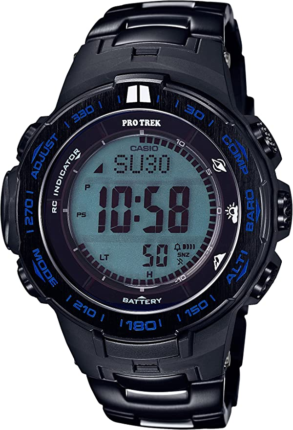 [カシオ] 腕時計 プロトレック Blue Moment 世界6局対応電波ソーラー PRW-3100YT-1JF ブラック