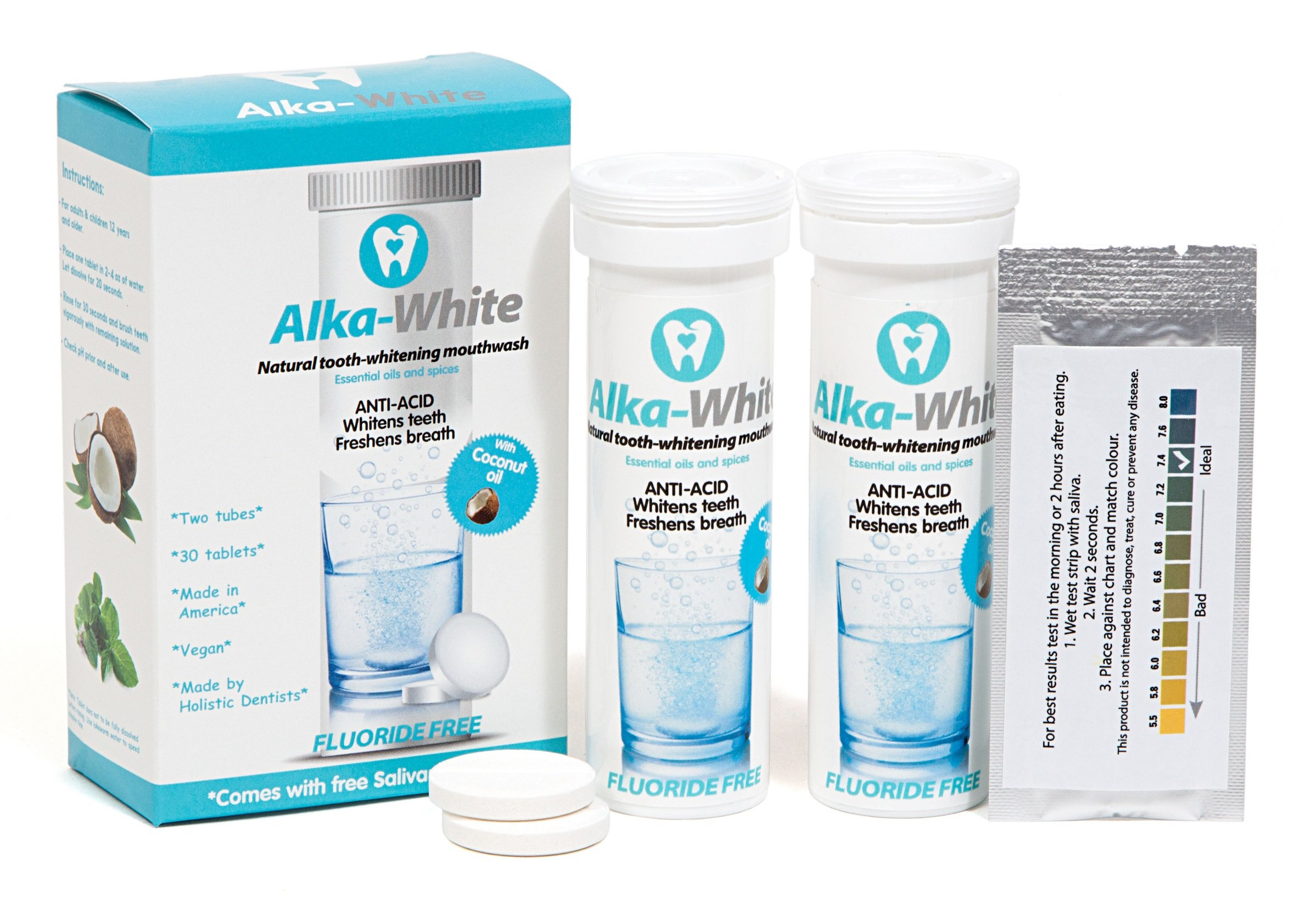 Alka-White Alkalizing Mouthwash and Toothpaste in One - Mint, 30 Tablets