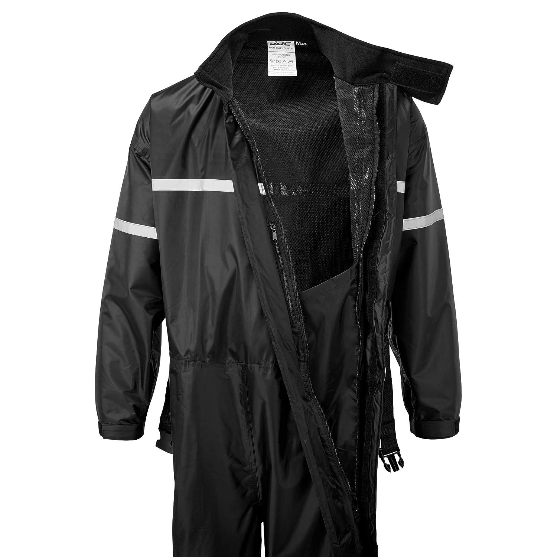 Schwarz S SHIELD 1-St/ück JDC Motorrad Kombi Regenkombi Wasserdichter Regenschutz