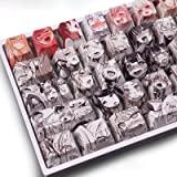 Keycaps 108 PBT Dye Sublimation OEM Profile Japanese Anime Keycap for Cherry Mx Gateron Kailh Switch Mechanical Keyboard (Ani