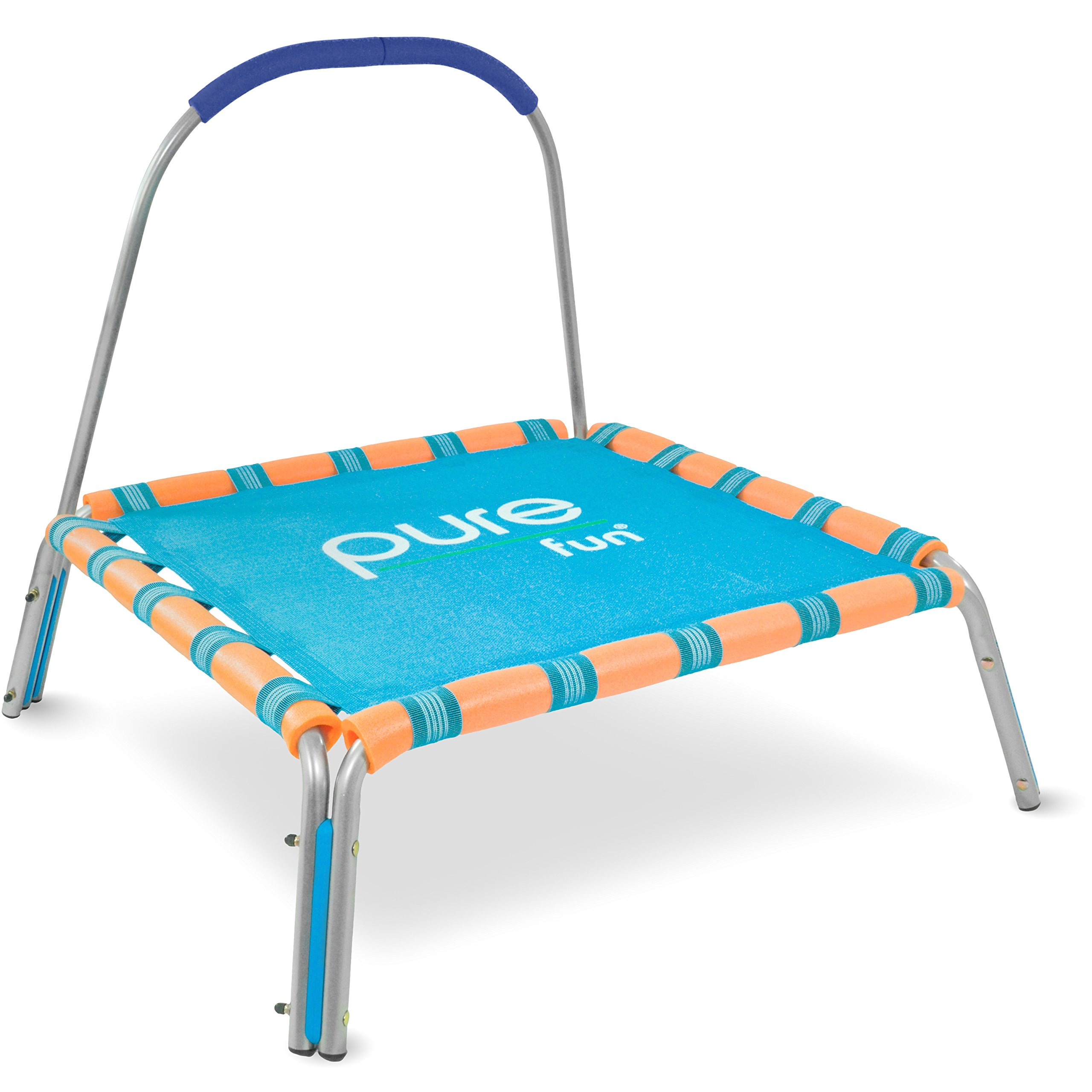 Pure Fun Kids Jumper: 36'' Mini Trampoline Handrail, Youth Ages 3 to 7