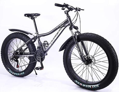 MYTNN Fatbike - Bicicleta de montaña de 26 Pulgadas, 21 ...