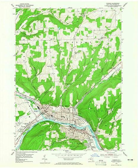 Amazon Com Yellowmaps Corning Ny Topo Map 1 24000 Scale 7 5 X