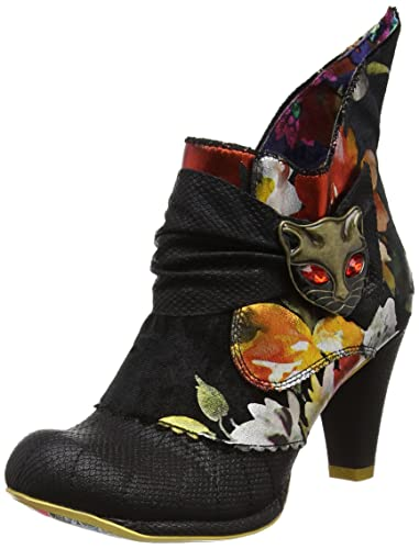 Irregular Choice Miaow Noir - Chaussures Bottine Femme