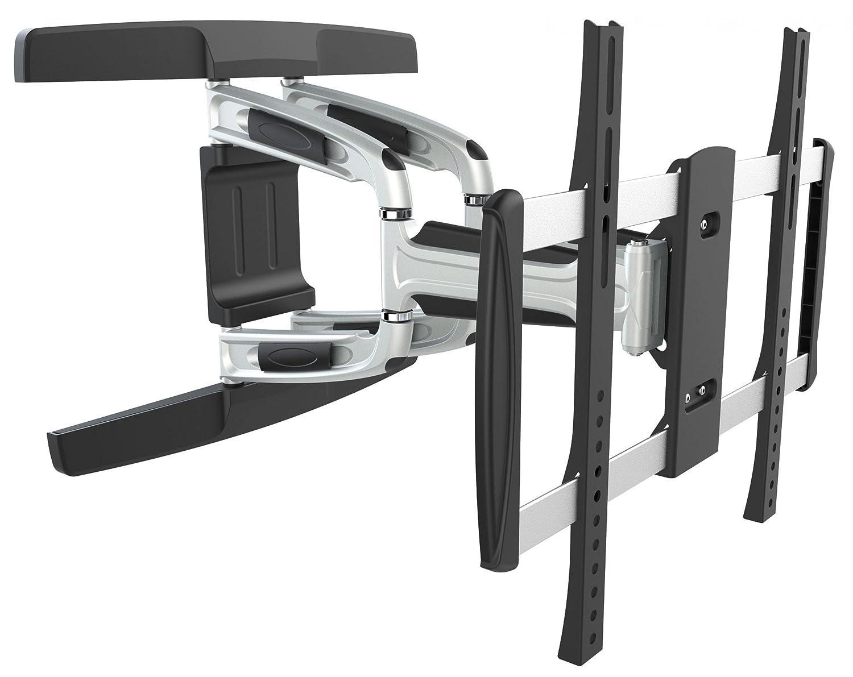 RICOO Alu Wandhalterung TV Schwenkbar Neigbar S3144 Universal LCD Wandhalter Ausziehbar Fernseher Halterung für Curved OLED Flachbildfernseher 102-165cm 40-65 Zoll VESA 200x200 400x400 Silber-Schwarz