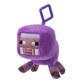 Minecraft 16685 Mini de Peluche con Clip – Lila Oveja – 1 DE Onda
