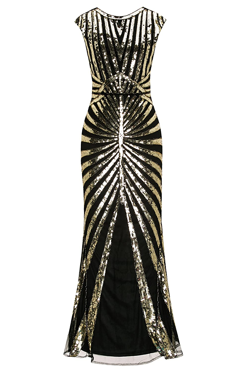 1920s Costumes: Flapper, Great Gatsby, Gangster Girl Metme Womens Evening Dress 1920s Sequin Mermaid Gatsby Formal Long Flapper Gown Party $40.99 AT vintagedancer.com