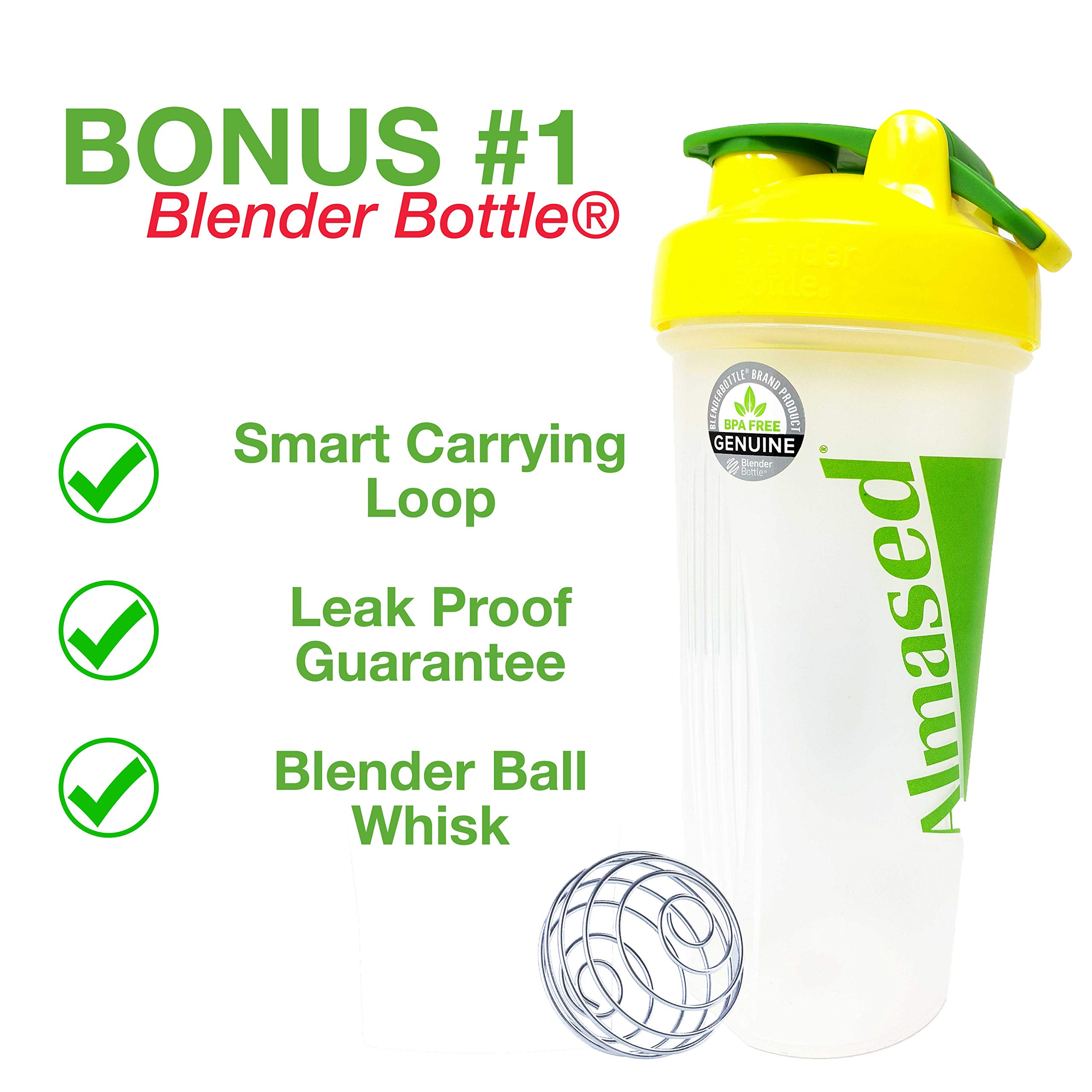 Almased Meal Replacement Shake - Plant Based Protein Powder for Weight Loss - Shake for Weight Management (2 pack +Blender Bottle Shaker and Diet Recipe Book) by ALMASED (Image #3)