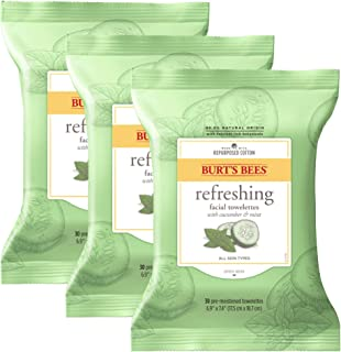 product image for Burt's Bees Sensitive Facial Cleansing Towelettes with Cucumber and Sage - 30 Count (Pack of 3)