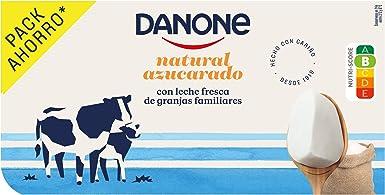 Danone Yogur Natural Azucarado, 8 x 120g