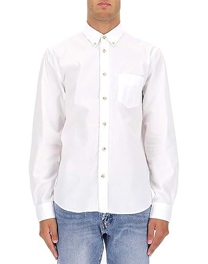 c8e4a35b059a ACNE STUDIOS Homme Bb0013isherwoodsoftpopopticwhite Blanc Coton Chemise