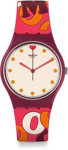 Swatch Reloj Digital para Mujer de Cuarzo con Correa en Silicona GR171: Amazon.es: Relojes