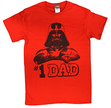3aa215aba Amazon.com: Star Wars #1 Dad Darth Vader Father's Day T-Shirt - Red ...