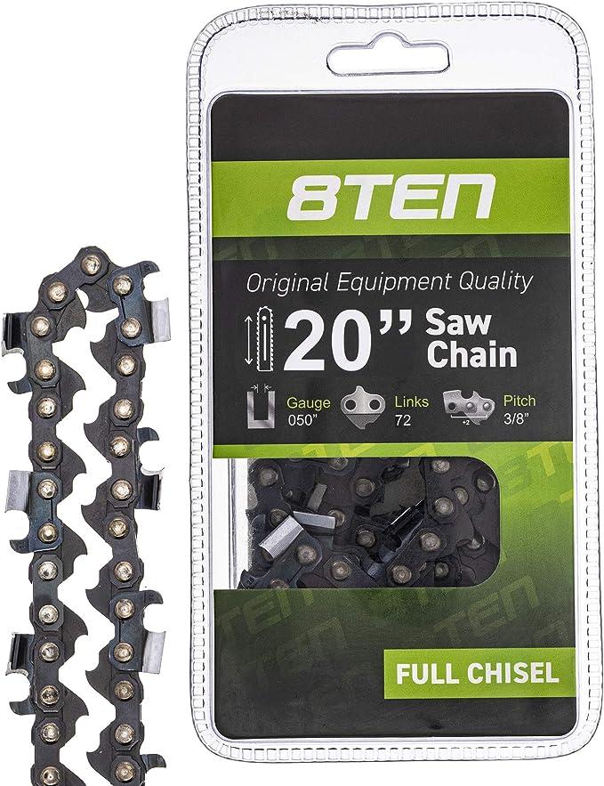"Chainsaw Chain Blades fit 20/"" Bar 3//8/'/' LP Pitch .050 Gauge 72DL Drive Links"