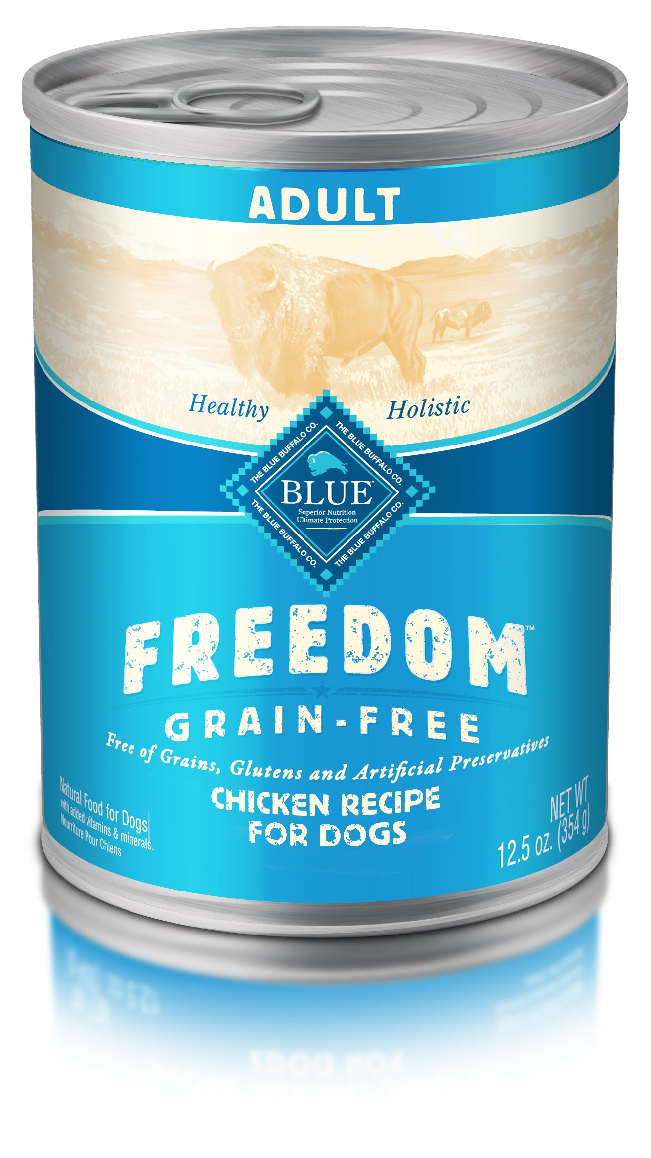 BLUE Freedom Adult Grain Free Chicken Wet Dog Food 12.5oz (Pack of 12)