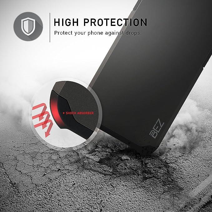 BEZ Funda Galaxy Note 8, Carcasa Compatible para Samsung Galaxy Note 8, Antideslizante Ultra Híbrida Gota Protección, Cover Anti-Arañazos con Absorción de ...