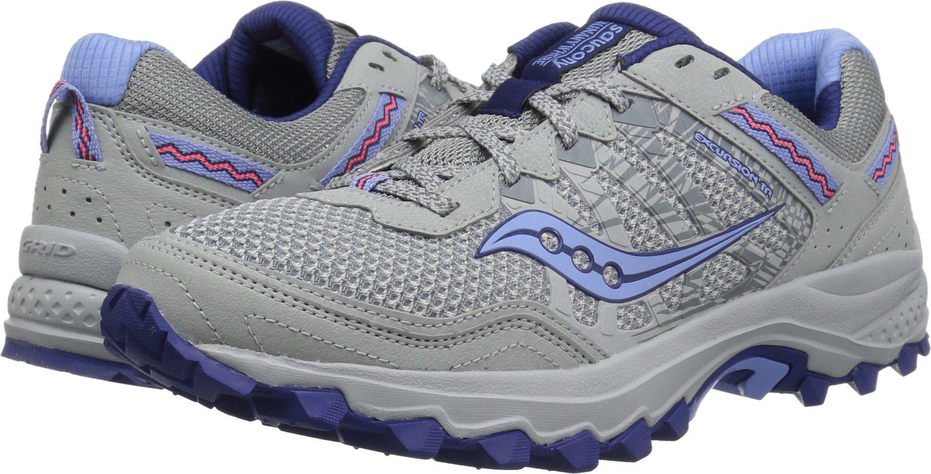 Saucony Women's Excursion TR12 Sneaker, Grey/Blue, 8.5 M US