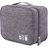 YOUBAMI Electronic Organizer Travel Universal Cable Organizer Storage Bag, Double Layer Polyester Waterproof Trave…
