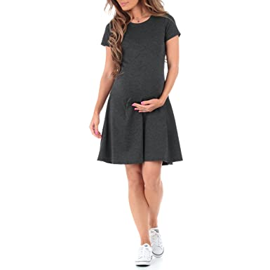 Womens Ponte Skater Maternity Dress By Mother Bee Made In Usa At