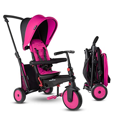 smarTrike STR3 Folding Toddler Tricycle with Stroller Certification for 1, 2, 3 Year Old - 6 in 1 Multi-Stage Trike, Pink : Sports & Outdoors