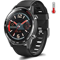 Maypott Smart Watch, Fitness Tracker with Body Temperature Thermometer Heart Rate Blood Pressure Sleep Monitor Two…