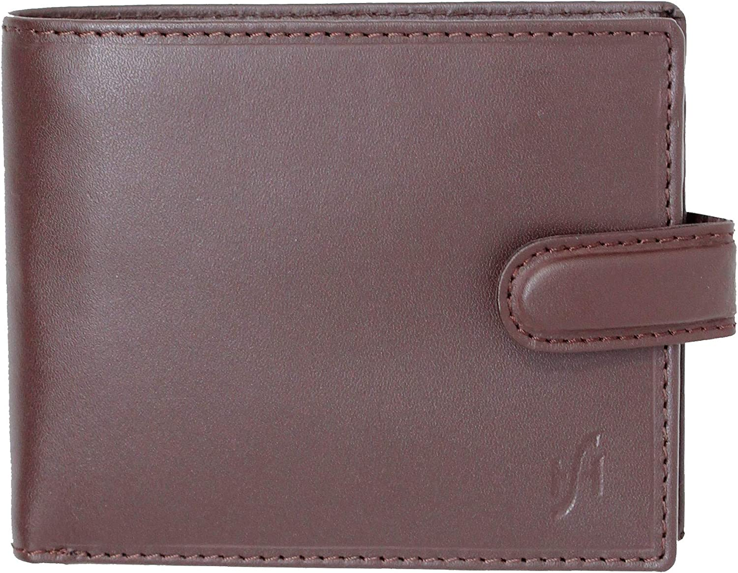 Starhide Mens RFID BLOCKING Zip Coin Pocket Distressed Leather Wallet 1100 Brown