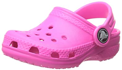 e47b452d8a crocs Kid's Classic K Clog 10006, Neon Magenta, 4-5 M US Toddler