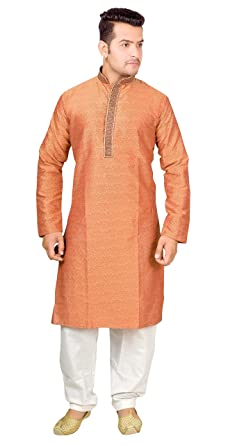 Mens Kurta Shalwar Kameez Pyjama embroidered Sherwani 1828 (S (Chest – 36 inches)