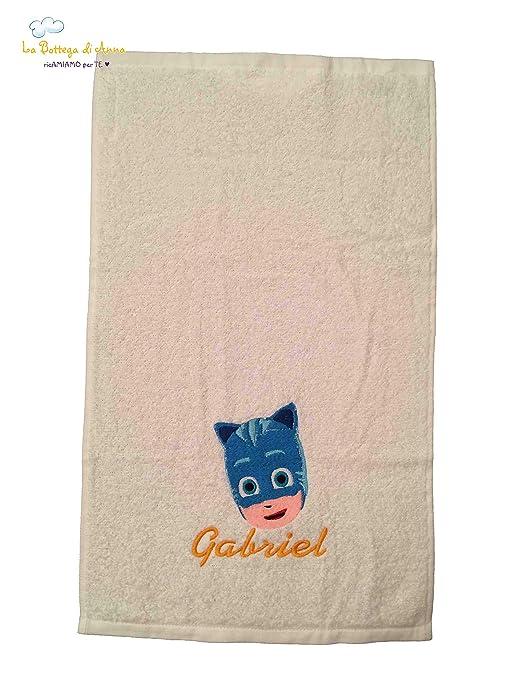 Toalla de rizo de algodón Pj Masks – gattoboy 1 – Personalizado con bordado del nombre