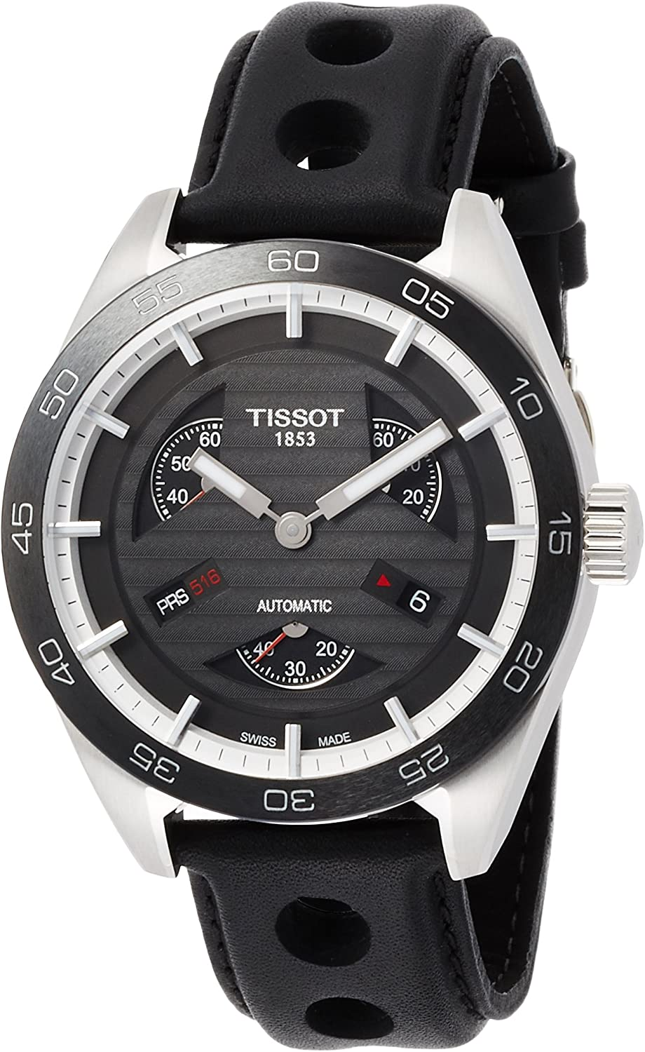 Tissot PRS 516 Automatic Black Dial Men's Watch T100.428.16.051.00