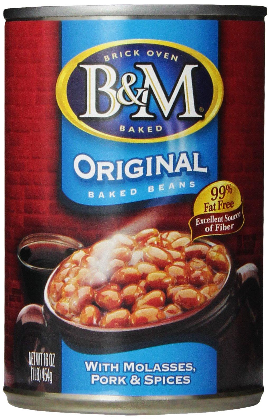 B & M Baked Beans, Original, 16 Ounce (Pack of 12)