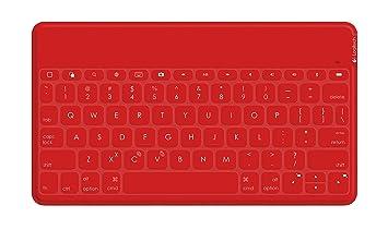 Logitech Keys-To-Go Bluetooth QWERTY Español Rojo teclado para móvil - Teclados para