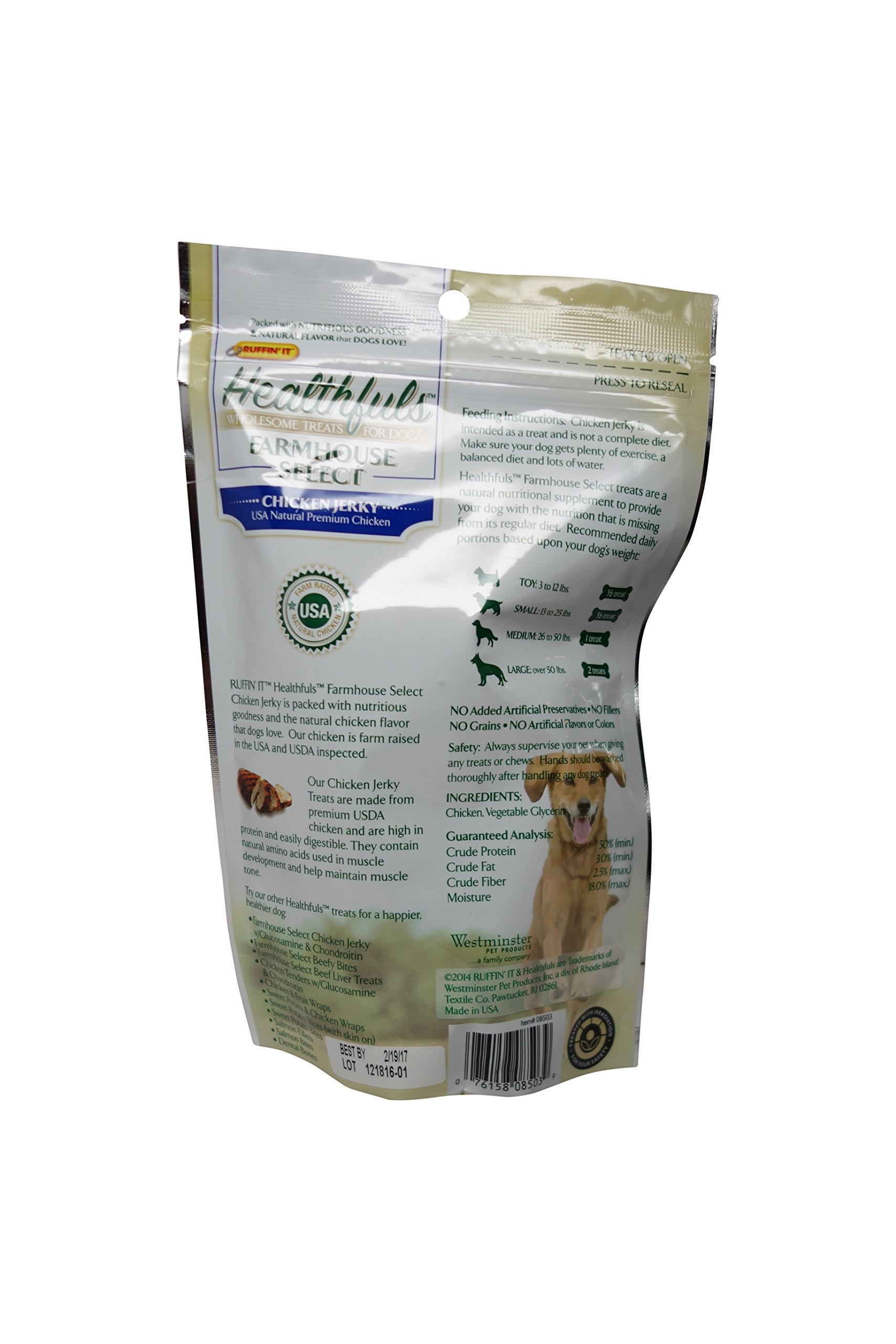 Ruffin It Healthfuls Wholesome Chicken Tenders Treat For Dogs - Made in USA, 3-Pack (12oz in Total) by Ruffin It (Image #4)