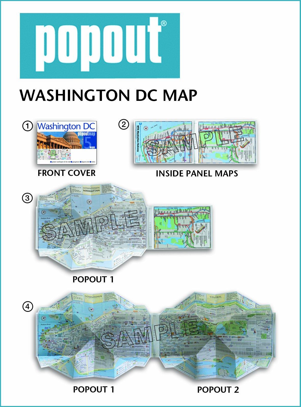 Washington DC PopOut Map PopOut Maps Popout Maps - Washington dc pop up map