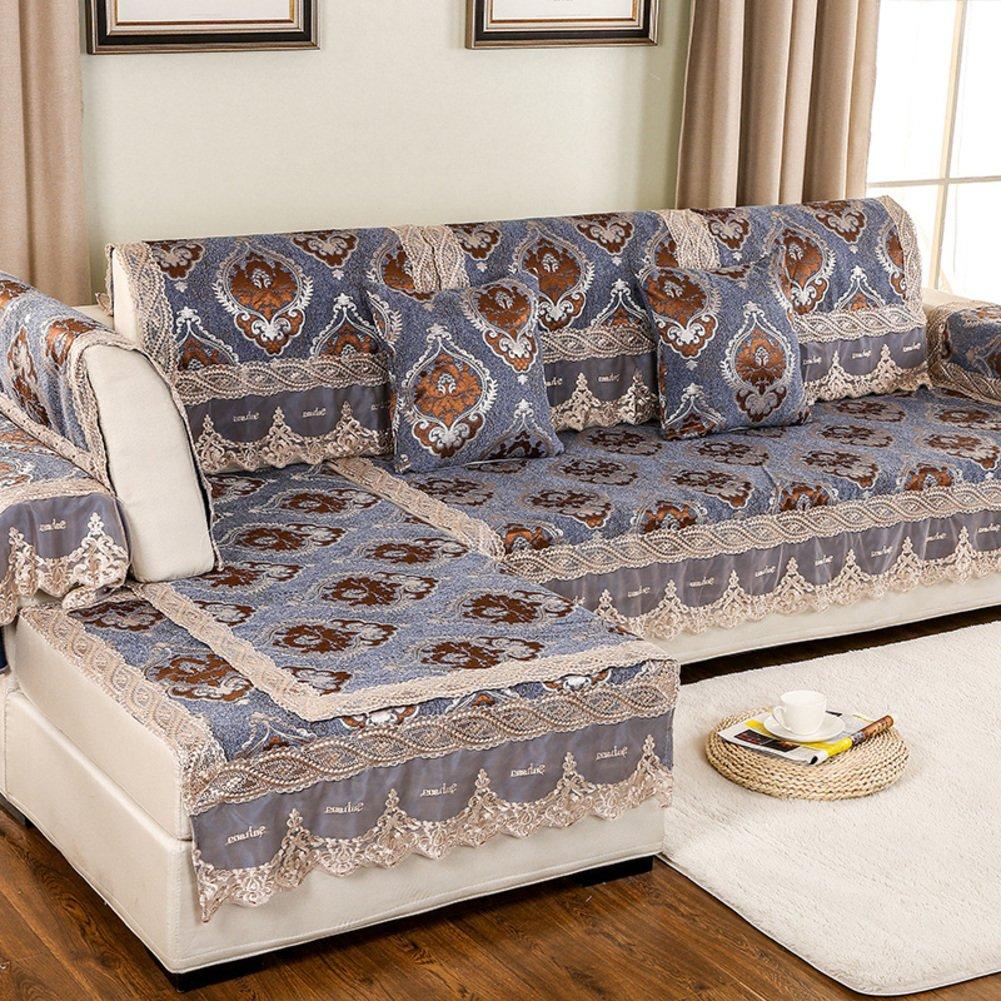 European Style Sofa Pad/Fabric Seat Cushion /Four Seasons Common Sofa Towel/Anti-skidding ,Living Room,Wood Sofa Towel-C by GDJVXCFV (Image #1)