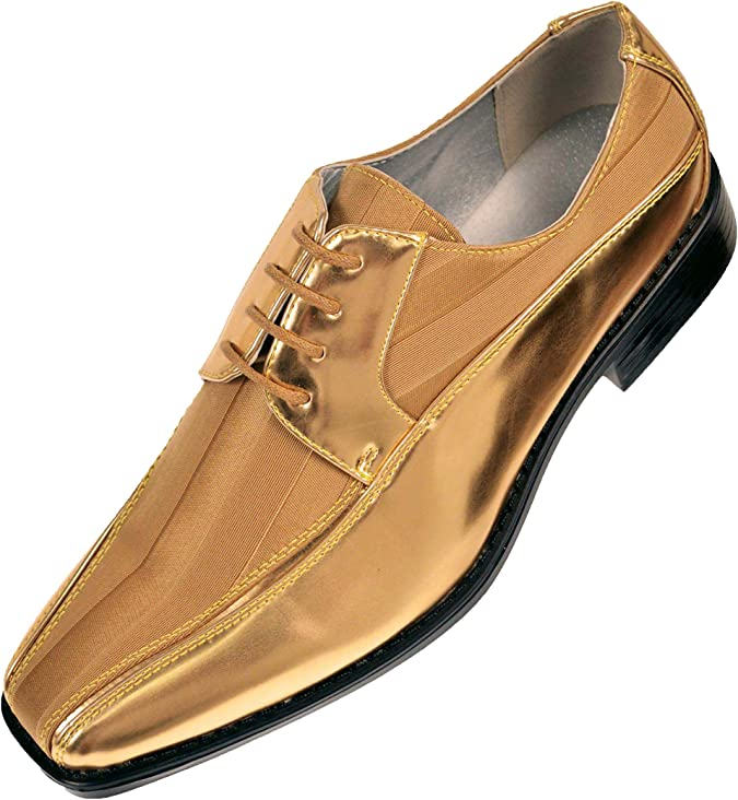 Viotti Lace Up Striped Satin Patent Oxford Designer Tuxedo Dress Shoes