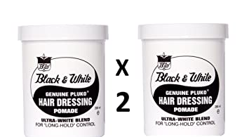 Zwart En Wit Pluko Hair Dressing Pomade 200 Ml X 2