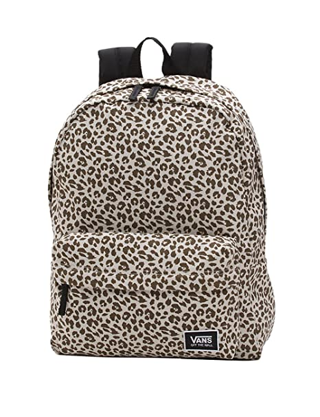 Vans Realm Classic Backpack Mochila Tipo Casual, 42 cm, 22 Liters, Marrón (Birch Leopard)