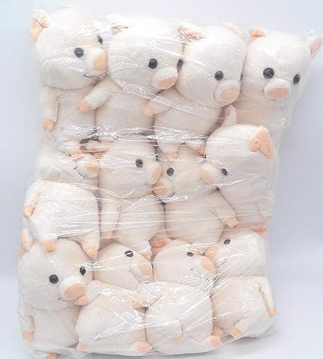 edcb38a3fe8 Amazon.com  12 Adorable Pig Piggy Plush Toy Doll ~WHOLESALE~ PARTY FAVORS~   2  Everything Else
