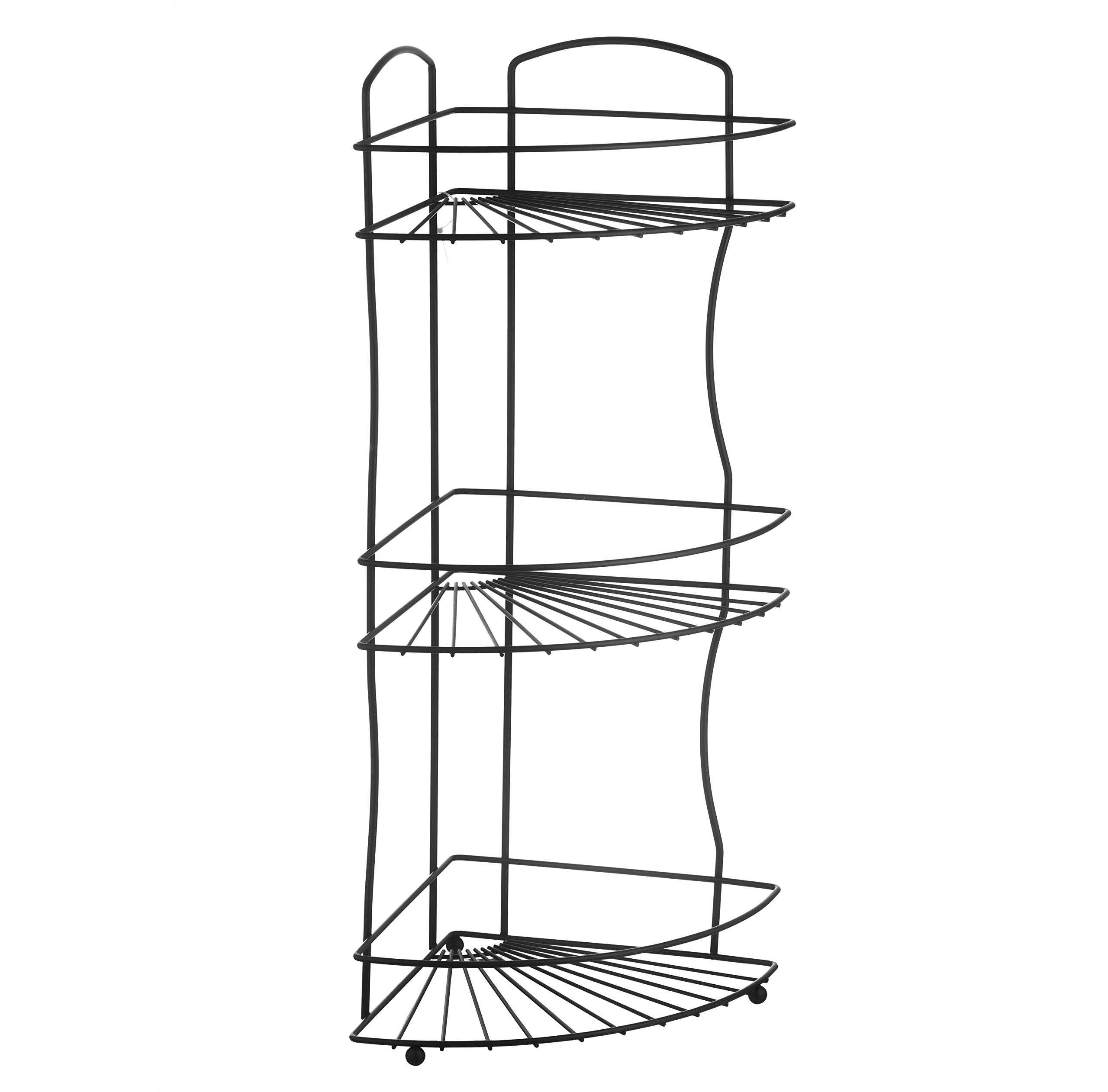 AMG and Enchante Accessories Free Standing Bathroom Spa Tower Floor Caddy, FC232-A BKN, Black Nickel by AMG (Image #6)