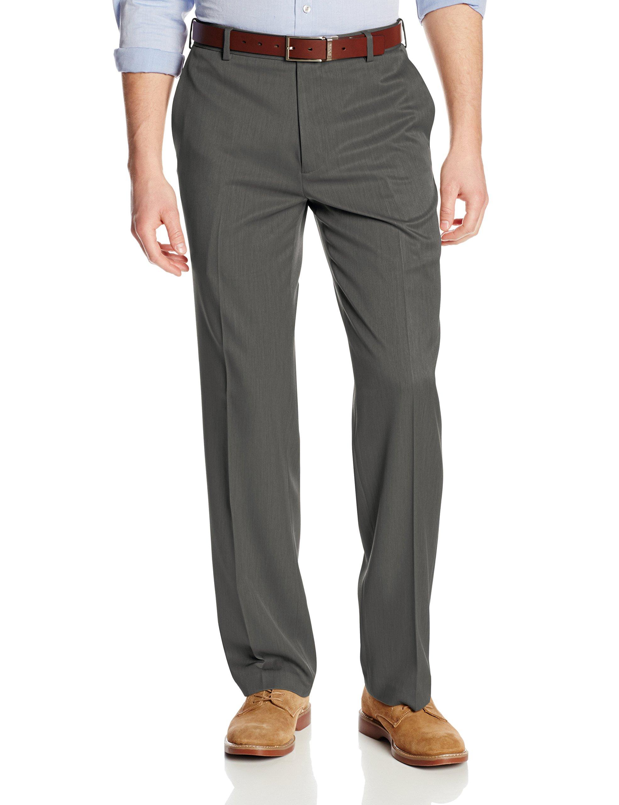 Van Heusen Men's Flat Front Ultimate Traveler Pant, Dark Charcoal, 36W x 30L by Van Heusen (Image #1)
